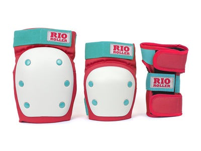 RIO ROLLER Triple Pad Set Red/Mint