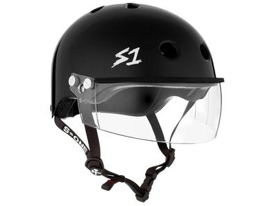 S1 Lifer Helmet inc Visor Black Gloss