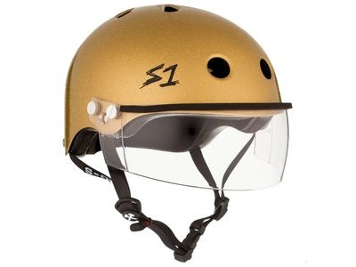 S1 Lifer Helmet inc Visor Gold Glitter