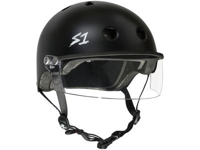 S1 Lifer Helmet inc Visor Black Matt