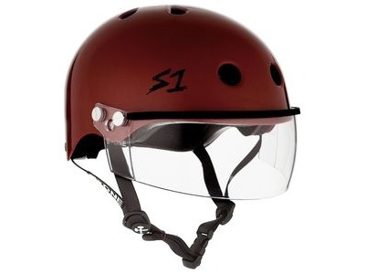 S1 Lifer Helmet inc Visor Red Gloss
