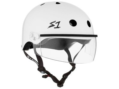 S1 Lifer Helmet inc Visor White Gloss