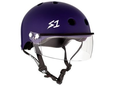 S1 Lifer Helmet inc Visor Matt Purple