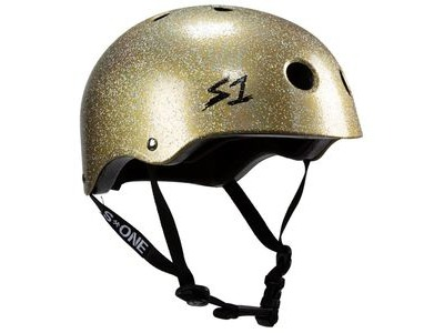 S1 Lifer Double Gold Glitter Helmet