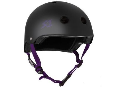 S1 Lifer Helmet Black Matt inc Purple Strap