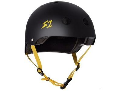 S1 Lifer Helmet Black Matt inc Yellow Strap