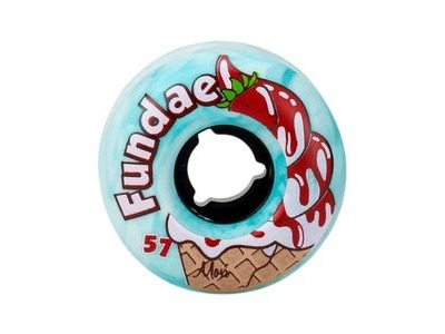 MOXI Fundae Wheels Creme de Menthe 57mm x 34mm 92a  click to zoom image