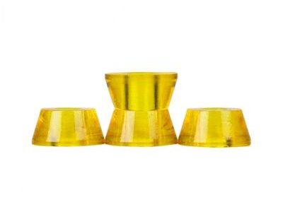 CLOUDS URETHANE Bushings, Conical, (Pack of 4) 85a Yellow  click to zoom image