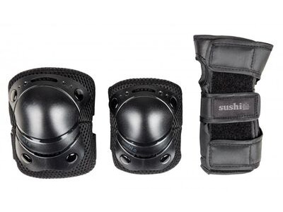SUSHI 3-Pack Youth Padset, Black