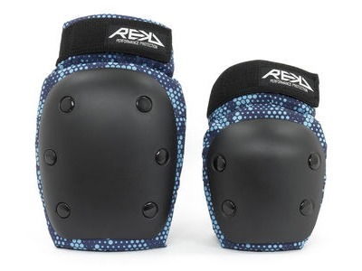 REKD Youth Heavy Duty Double Pad Set Black/Blue