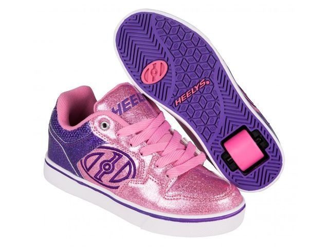 HEELYS Motion Plus Purple Pink Glitter click to zoom image