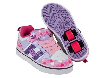 HEELYS Bolt Plus Light Pink/Lilac/Hearts