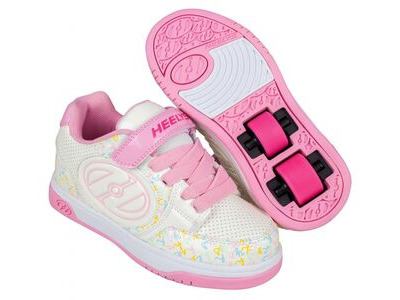 HEELYS Plus X2 White/Light Pink/Multi Logo
