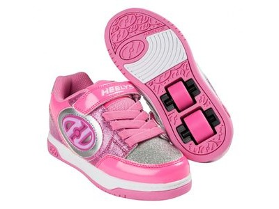 HEELYS Plus Lighted Neon/Pink/Silver