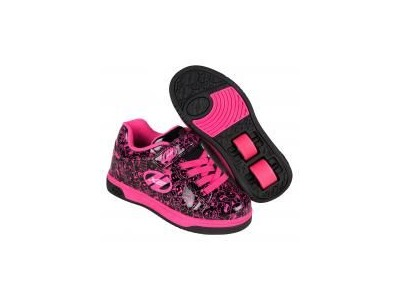 HEELYS Dual Up Black/Hot Pink/Graphic