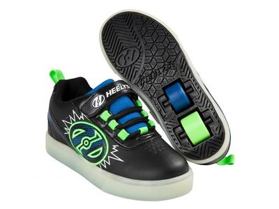 HEELYS POW Lighted Black/Blue/Green