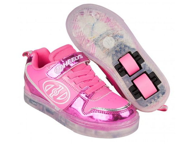 HEELYS Boom Fuchsia/Pink/Silver/Hearts click to zoom image