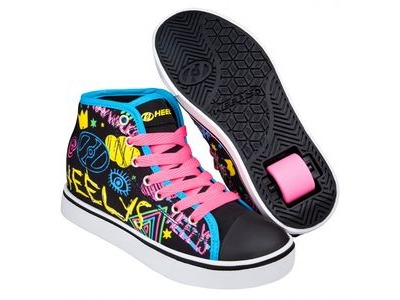 HEELYS Veloz Black Rainbow/Scribble