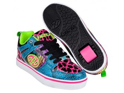 HEELYS Motion Cyan/Pink/Purple/Animal Print