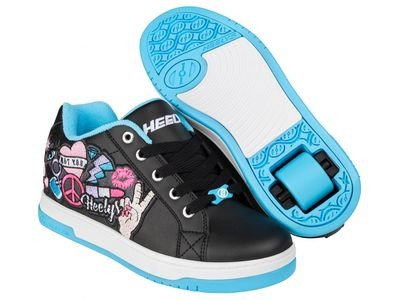 HEELYS Split Black Aqua Peace Patch