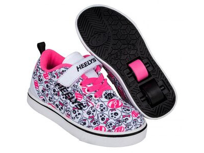 HEELYS Pro 20 X2 White/Black/Hot Pink/Skulls
