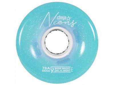 Chaya LED Light Up Wheels, Neon Blue