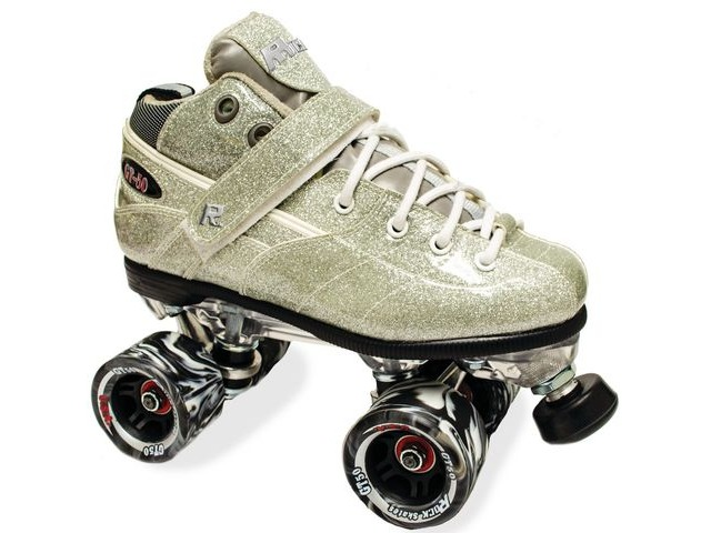 SURE GRIP Rock GT50 Silver Sparkle Skates click to zoom image