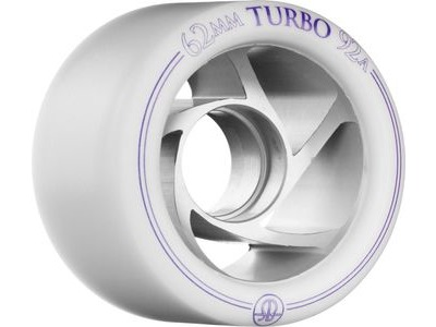 Rollerbones Turbo Wheels, White (Pack of 8)
