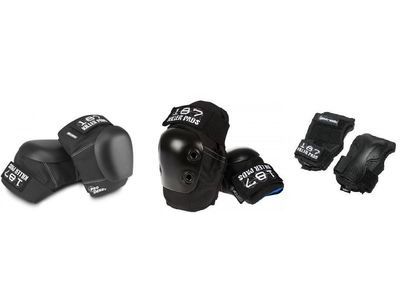 187 KILLER Derby Pro Knee, Slim Elbow & Wrist Guard Set