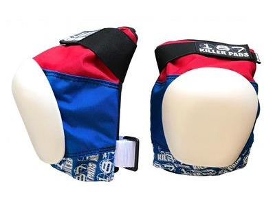 187 KILLER Pro Knee Pads, Red/White/Blue