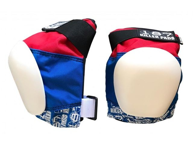 187 KILLER Pro Knee Pads, Red/White/Blue click to zoom image