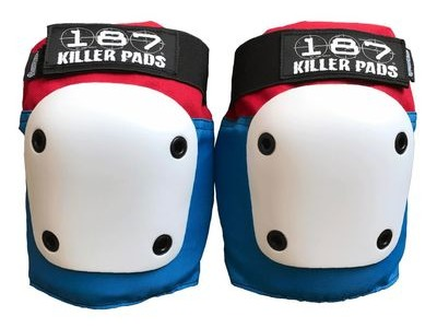187 KILLER Fly Knee Pads, Red/White/Blue