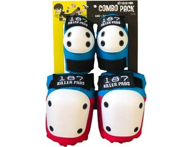 187 KILLER Combo Pack Knee & Elbow Red/White/Blue