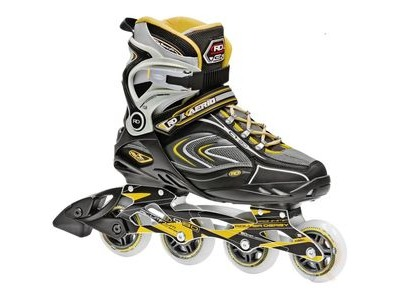 ROLLER DERBY Aerio Q-80 Black Yellow Skates