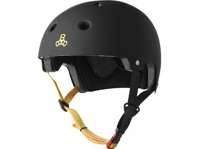 TRIPLE EIGHT Brainsaver Helmet, Black Rubber