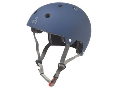 TRIPLE EIGHT Brainsaver Helmet, Blue Rubber