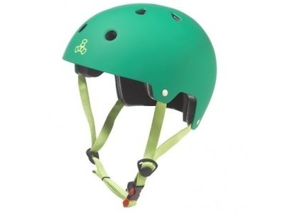 TRIPLE EIGHT Brainsaver Helmet, Kelly Green Rubber
