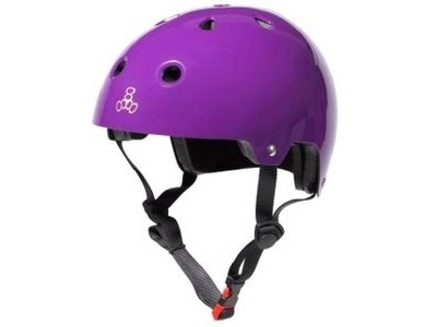 TRIPLE EIGHT Brainsaver Helmet, Purple Gloss