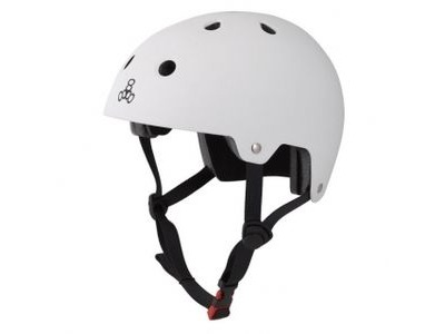 TRIPLE EIGHT Brainsaver Helmet, White Rubber