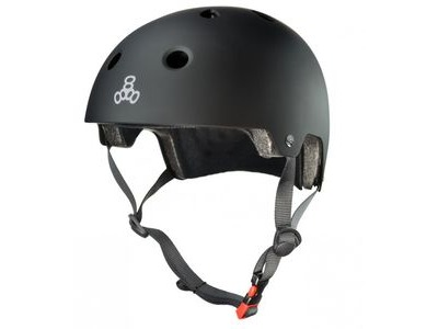 TRIPLE EIGHT Brainsaver Helmet, All Black Rubber