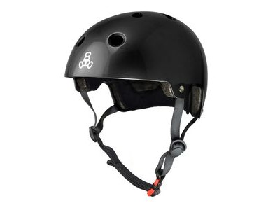 TRIPLE EIGHT Brainsaver Helmet, Black Gloss