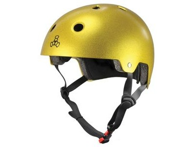 TRIPLE EIGHT Brain Saver Helmet, Gold Flake