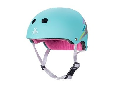 TRIPLE EIGHT Certified Sweatsaver Helmet Teal Hologram